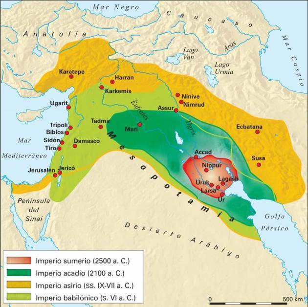 mapa mesopotamia