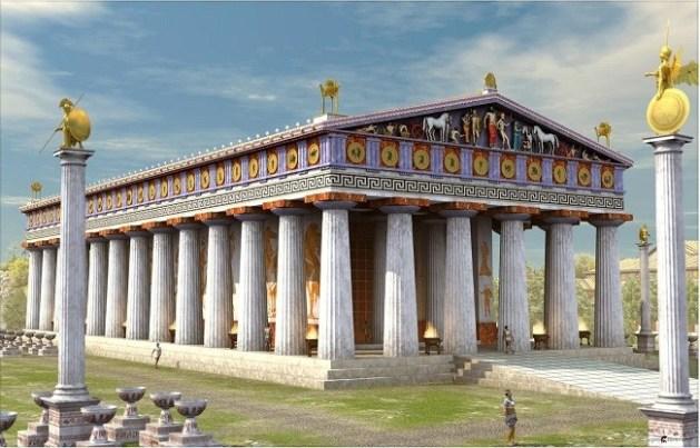 Posible-reconstrucción-del-templo-de-Zeus-en-Olimpia